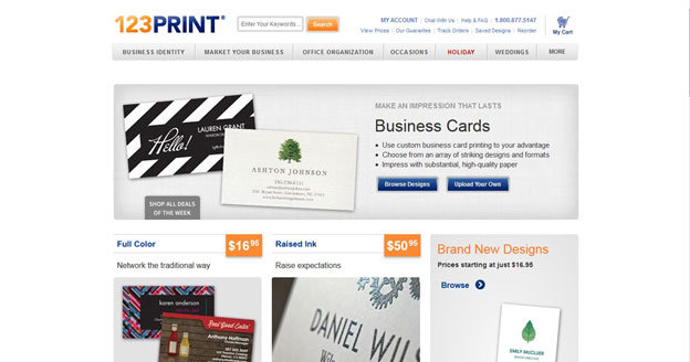 123print Review Business Cards