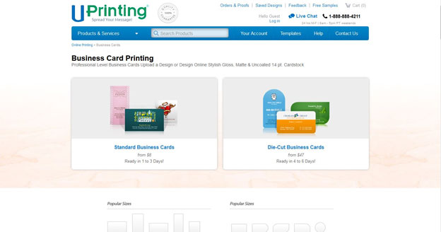 Uprinting review business cards with uprinting you can choose the size and shape thats best for you colourmoves